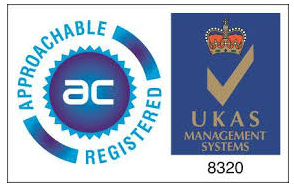 Approachable Registered and UKAS Logo